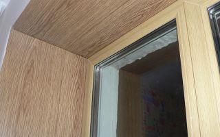 Откос из ламината для деревянных окон