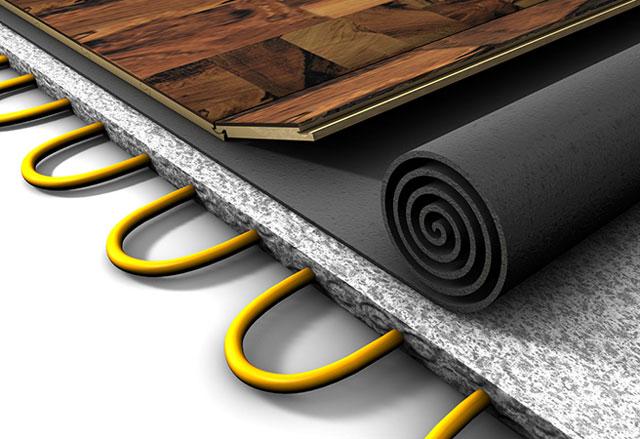 Подложка под ламинат на пол с подогревом