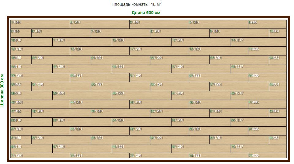 Калькулятор расчета ламината