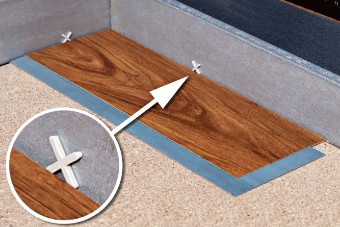 Отступ от стены при укладке гибкого ламината со смарт-лентой