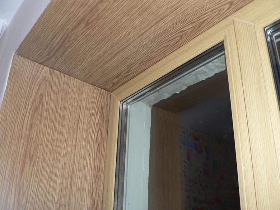 Откос из ламината для пластикового окна