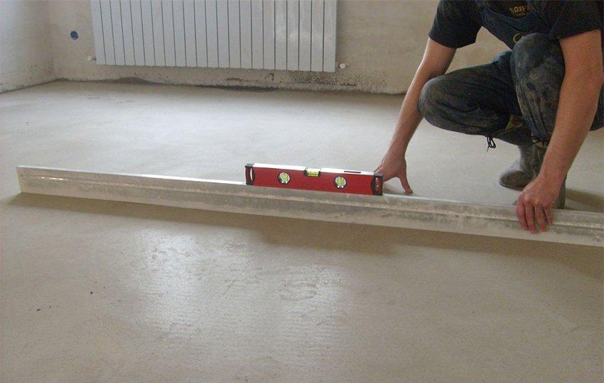 Проверка базового пола на ровность поверхности