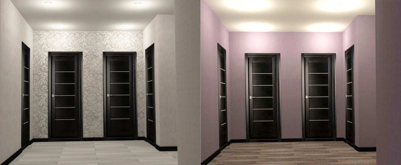 Сравнение цветов ламината и дверей