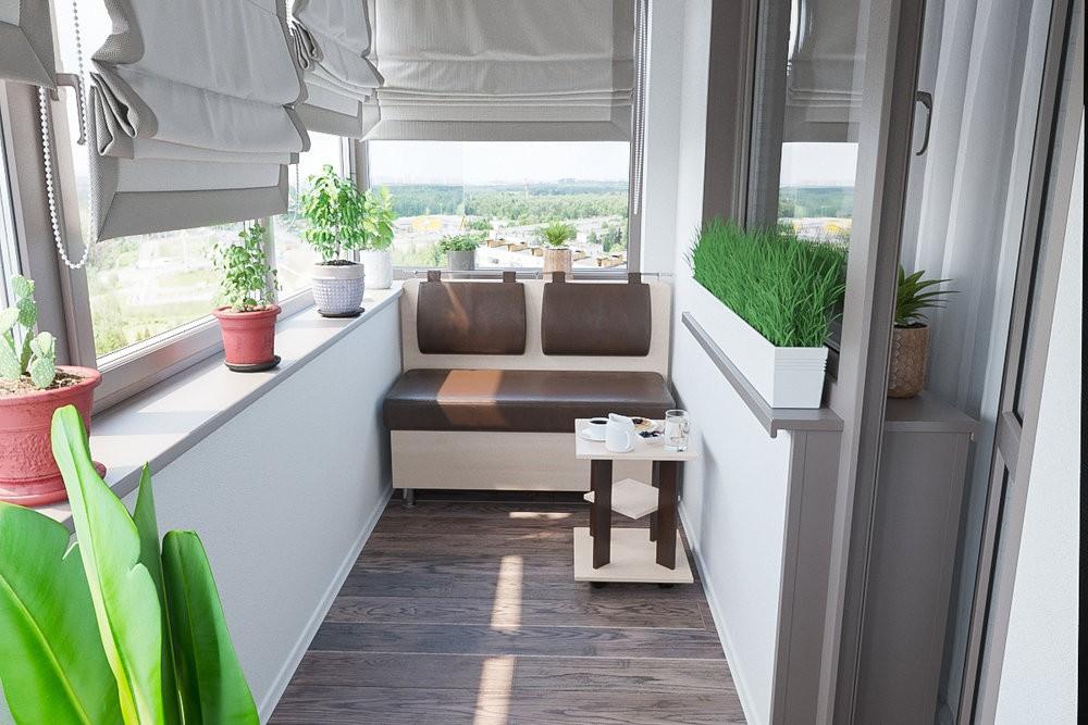 Укладка ламината на балконе