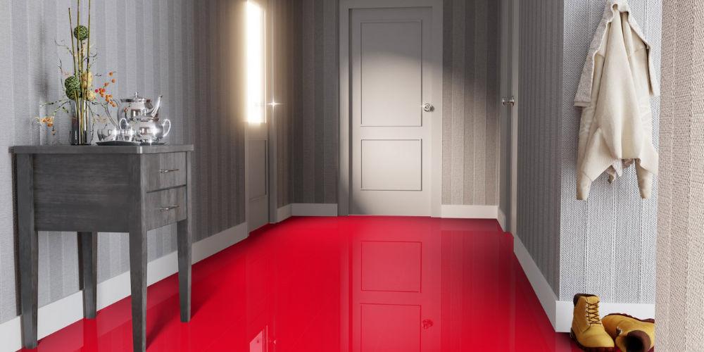 Глянцевый ламинат 33 класса красный