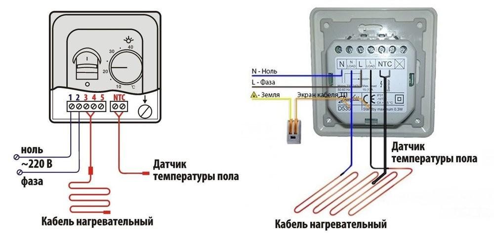 Подключение датчиков температуры и регулятора
