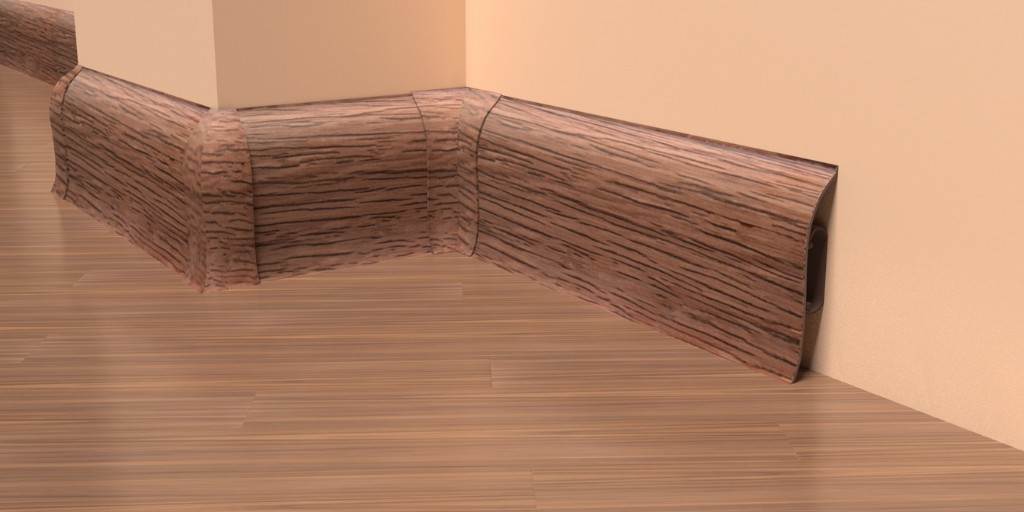Пластиковый плинтус для ламината