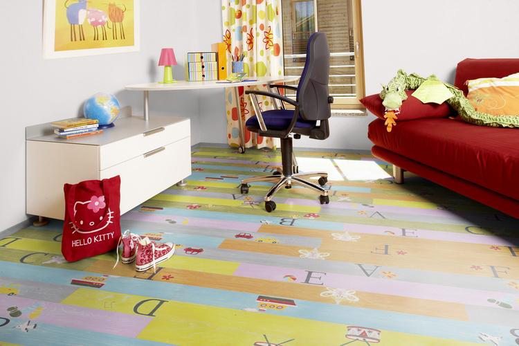 Ламинат с рисунком для детской комнаты