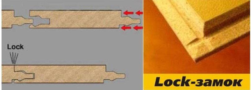 Разбор ламината с замком Lock